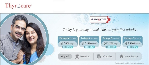 Thyrocare Aarogyam Packages