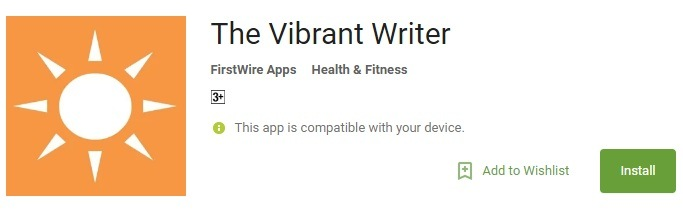 The Vibrant Writer Mobile App